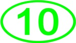 Number 10 Oval (Green)