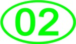 Number 02 Oval (Green)