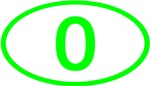 Number 0 Oval (Green)