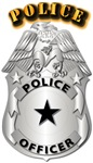 Police Officer Badge w Txt