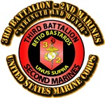 USMC - 3rd Bn - 2nd Marines with Text