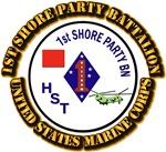 USMC - 1st Shore Party Battalion with Text