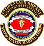 USMC - 1st Dental Company with Text