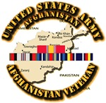 US Army w Afghanistan SVC Ribbons