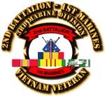 USMC - 2nd Bn - 1st Marines w SVC Ribbons
