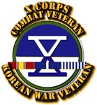 Army - X Corps w Korean Svc