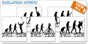 EVOLUTION Sports T-shirts and Gifts
