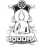 Buddha and the Dharma Wheel
