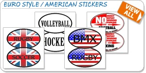 Euro Style and American Oval Stickers