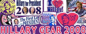 <B>JUST HILLARY 2008 Shirts Stickers Buttons</B>