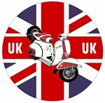 Union Jack Vespa Scooter