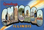 Chicago Vintage Postcard