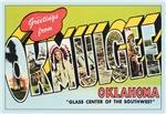 Okmulgee OK Vintage Postcard