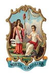 North Carolina Vintage Coat of Arms