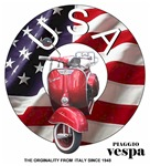 USA Vespa Scooters - USA Flag with Vespa