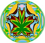 HEMP MANDALA (GREEN/YELLOW)