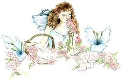 Romantic Flower Fairy, Fantasy Art Gifts