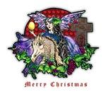 Christmas Fantasy Art, Fairy Eve And The Dragons O