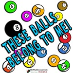 My Balls, Sports Humor T-shirts and Billiard Gift
