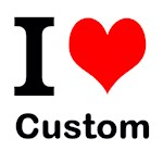 I Heart Custom Text