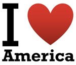I Love America Light Tee