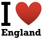 I Love England Light Tee