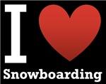 I Love Snowboarding black