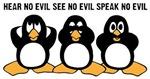 Three Wise Penguins Design Graphic