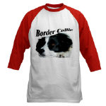 Border Collie Baseball Shirts