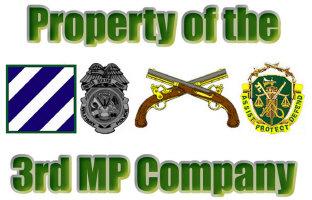 3rd MP Company Items
