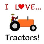 I Love Orange Tractors