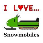 I Love Snowmobiles