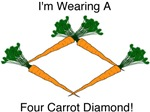 Wearing a 4 Carrot Diamond