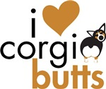 I Heart Corgi Butts - Black Headed Tri
