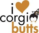 I Heart Corgi Butts - Black Headed Tri
