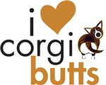 I Heart Corgi Butts - Brindle Cardigan