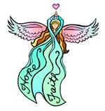 Teal Ribbon Angel