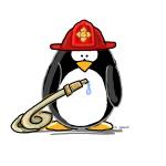 Fireman penguin