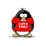 I Love You Penguin