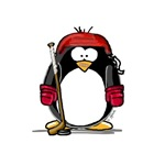 Red Hockey Penguin