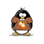 Candy Corn Penguin