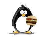 Cheeseburger Penguin