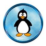 Funky Blue Penguin