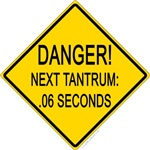 Tantrum warning sign baby