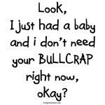 New baby, no bull