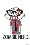 Zombie Nerd. With Body.