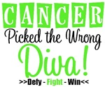 Cancer Picked The Wrong Diva Shirts & Gifts (Lime)