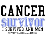 Cancer Survivor T-Shirts (Perwinkle)