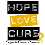 Hope Love Cure Appendix Cancer T-Shirts & Gifts