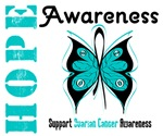 Ovarian Cancer Hope Awareness Breast Cancer Shirts